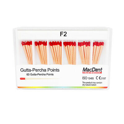 100%  MacDent Dental Gutta Percha Ponits Tips &Absorbent Paper Points ALL SIZE