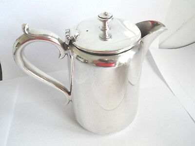 Vintage Silver Plate Epns Coffee Pot / Hot Water  Hotel Ware 1 Pint