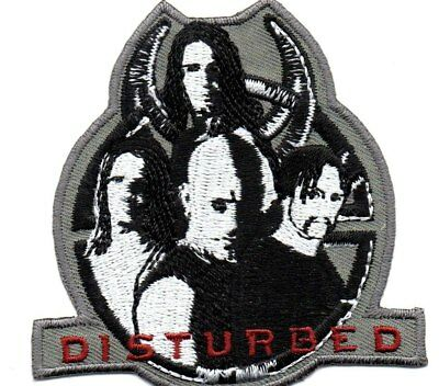 Disturbed-Shaped Music Within-Official Sew On Embroidered Patch