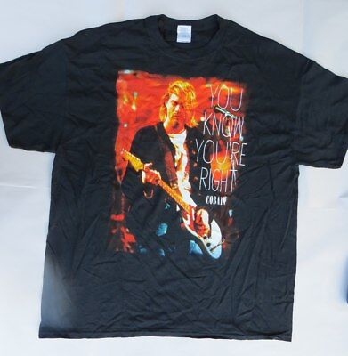 Kurt Cobain-Nirvana-You Know You're Right- XL-Licensed T-Shirt-Brand New