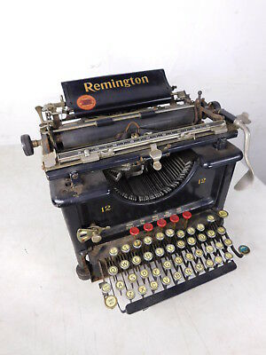 1913 Antique Remington Standard 12 Typewriter FOR PARTS Serial# LK33653