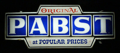 Pabst Blue Ribbon Lighted Block Letter Advertising Beer Sign Milwaukee Wisconsin
