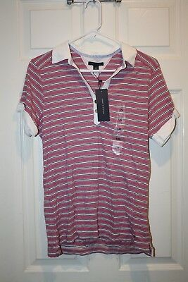 f4c95b4ab Tommy Hilfiger Womens Size Large Shirt Top Collared Macy's Pink White NEW  NWT