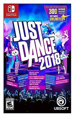 Just Dance 2018 * Nintendo Switch * Brand New Factory Sealed!