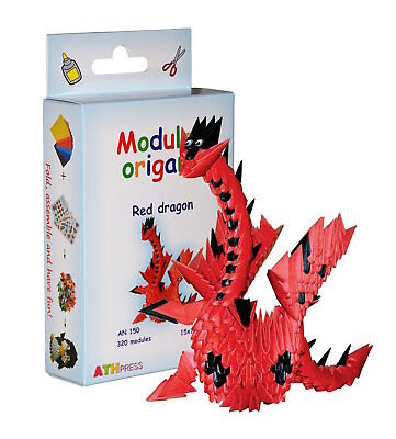 ATH Press Red Dragon Modular Origami AN150 15x15 cm Paper 320 Modules NEW!