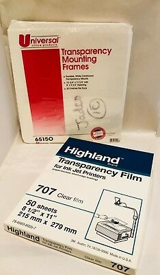Transparency Mounting Frames and Transparency Clear Film