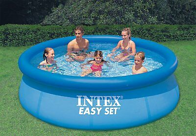 Intex Easy Set Up Inflatable Swimming Paddling Family Pool, 10 Foot x 30 Inch