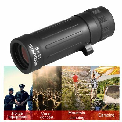 8*21 Compact Monocular Telescope Handy Scope For Sports Camping Hunting
