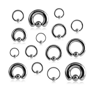 Piercing Ring Klemmkugelring BCR Lippe Augenbraue Ohr Septum Brust Nase Intim PA
