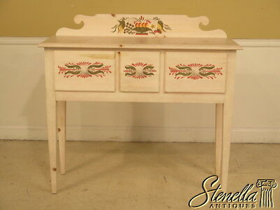 38704: LANE Paint Decorated Country Style 3 Drawer Sideboard