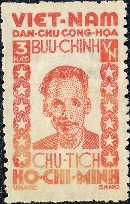 NORTH-VIETNAM - 1946 Mi.57 3H red Pdt. Hồ Chí Minh - Mint no-gum (as issued)