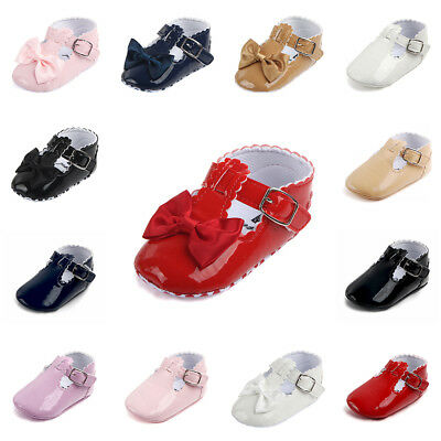 Shoes Baby Prewalker Soft Sole Sneakers 0-18M Crib Bow Girl Newborn Anti-slip
