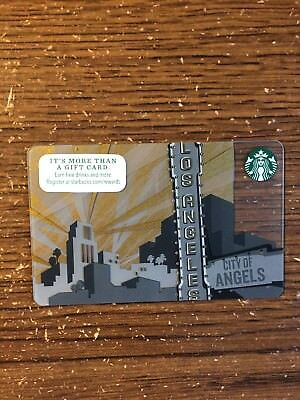 2014 Starbucks Los Angeles City Of Angels State Collectible Gift Card