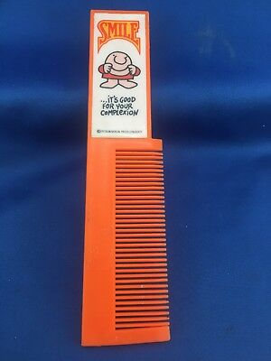 Vintage Ziggy Cartoon Comb Smile... Its good For Your Complexion 1970's Beauty