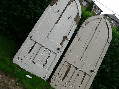 Amazing Pair of original antique church doors circa 1890 pitch pine