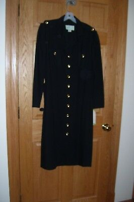 NEW OLD STOCK Black w/Brass Buttons DRESS-MARTI PETITE-16P-Poly/Wool