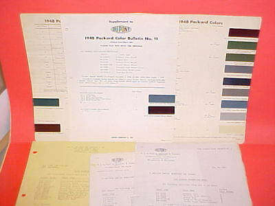 1948 Packard Clipper Deluxe Super Custom Victoria Convertible Limo Paint Chips +