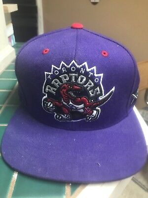 Mitchell   Ness NBA Toronto Raptors Old School Logo Team Color Snapback Cap  Hat a9d91233287d