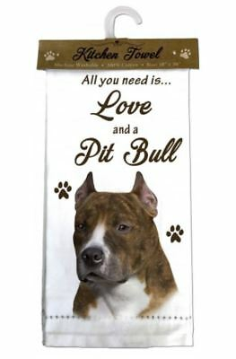 Pitbull Pit Bull Dog Cotton Kitchen Dish Towel