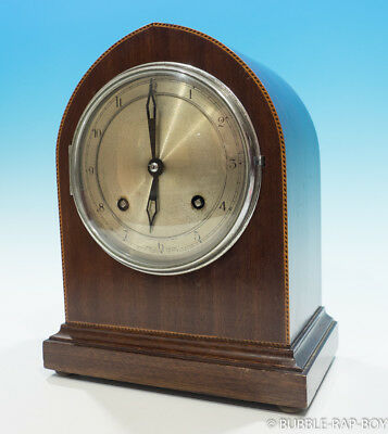 Vintage Wood Mantle Clock Empire Deluxe