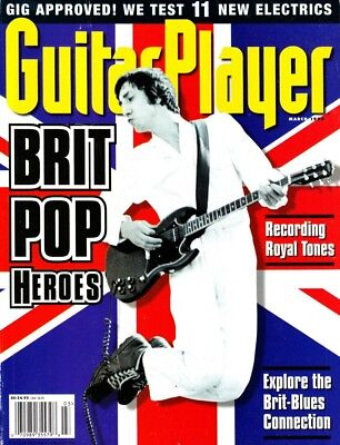 Guitar Player Magazine March 1998 Brit Pop Heroes, The Who, Michael Hedges