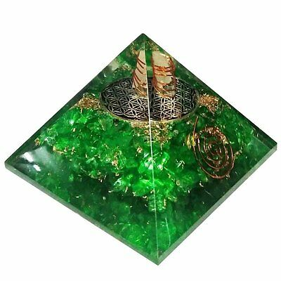 Extra Large 70-75MM Green Peridot Stone Orgorne Natural Gemstone Pyramid Organit