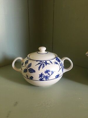 Royal Stafford Blue & White Spring Garden/Hedgerow sugar bowl with lid