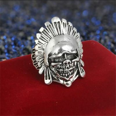VERY UNIQUE Chief of a tribe Antique Silver Retro Vintage STYLE Ring