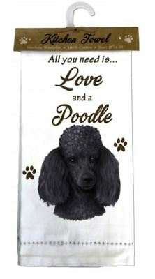 Poodle Black Dog Cotton Kitchen Dish Towel