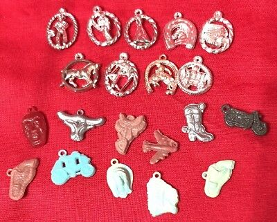 Vintage Lot of 20 Pieces Cracker Jack Box Tiny Toys Charms Plastic Gumball