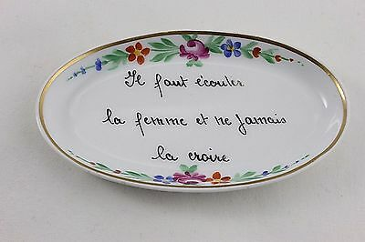 Decor Main Limoge France Trinket Or Pin Tray