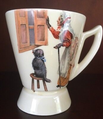 Antique Royal Doulton Nursery Rhyme Child's Cocoa Mug - c1930's - good condition