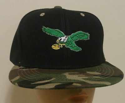 3b304ccc087d2 PHILADELPHIA EAGLES THROWBACK Logo Snapback Ball Cap Camouflage Flat ...