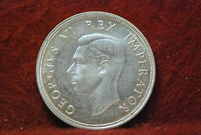 South Africa, 1947 5 Shillings, KM31, silver, About UNC, cleaned, NR,      mab10