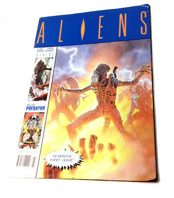 Trident Comics UK ALIENS comic No.1 FEB 1991 First issue also features Predator