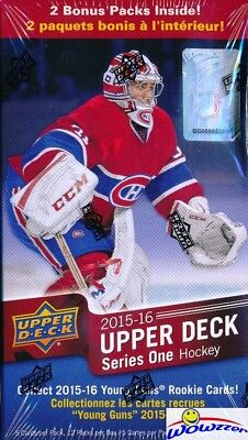 15/16 Upper Deck Series 1 Hockey Factory Sealed 12 Pack Blaster Box-2 Young Guns