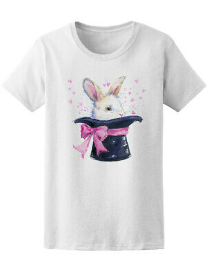 White Rabbit In Magic Hat Women's Tee -Image by Shutterstock