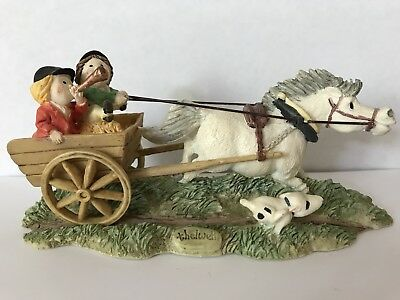 """Thelwell Adorable Horse Figurine """"Chariot Race"""""""