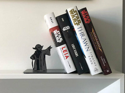 Yoda Bookend Holds Leaning Books Up With The Force