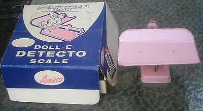 Vintage 1950's Pink Doll-E Detecto Scale By AMSCO In Original Box collectible