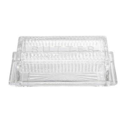 Bloomingville Clear Glass Butter Dish