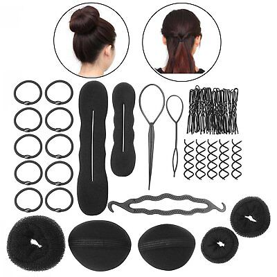 ZeWoo 8 Kinds of Hair Styling Accessories Magic Hair Braider Clip Pads Foam Spon