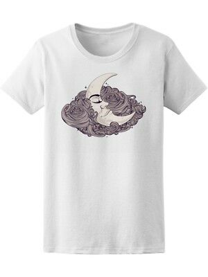 Cool Vintage Crescent Moon Women's Tee -Image by Shutterstock