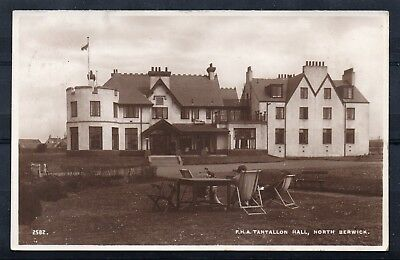 NORTH BERWICK = RP, F.H.A. Tantallon Hall. Mailed 1938 to GLASGOW. (20.03.18)