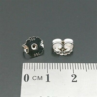 b3bf1029f BRAND NEW 18ct White Gold 750 - Large 8mm Butterfly Earring Back Butterflies  pr
