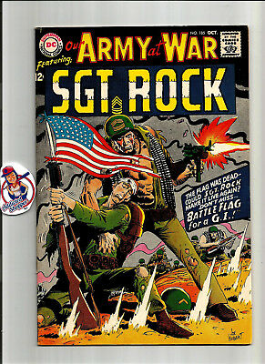 Our Army at War #185 DC Comic Book 1967 Sgt. Rock Classic War Kubert (FN 8.0)