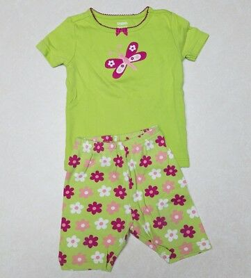 Girls Gymboree Butterfly Shorts Pajamas Size 18-24 mos. EUC