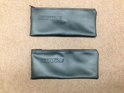 2 x Genuine Shure Microphone Pouches / Soft Case - NEW