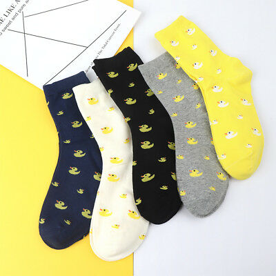 Vintage Duck Animal Socks Women Winter Autumn Warm Sock Soft Cotton Casual Sock