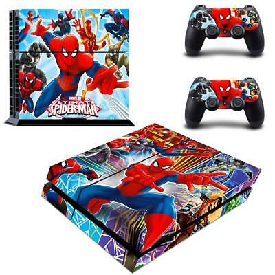 Regular Ps4 Console Controllers Skin Spider Man Marvel Comic Cosplay Vinyl Decal Video Game Accessories